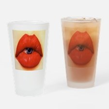 Lip eye Drinking Glass