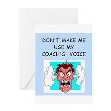 coach Greeting Card
