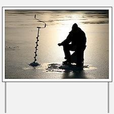 Ice fishing, Sweden - Yard Sign