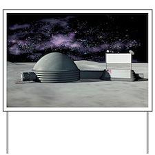 Moon base, artwork - Yard Sign