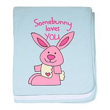 Somebunny Loves You baby blanket