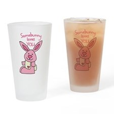 Somebunny Loves You Drinking Glass