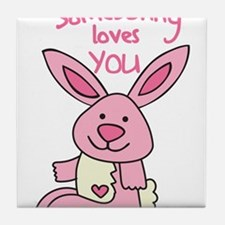 Somebunny Loves You Tile Coaster