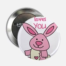 "Somebunny Loves You 2.25"" Button"