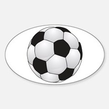 Soccerball II Oval Decal