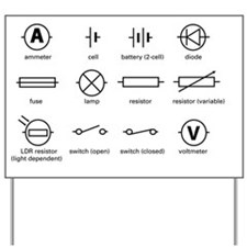 Standard electrical circuit symbols - Yard Sign