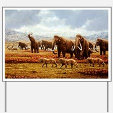 Woolly mammoths - Yard Sign
