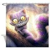 Cheshire cat Shower Curtains