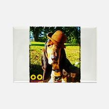 Dapper Dog Rectangle Magnet