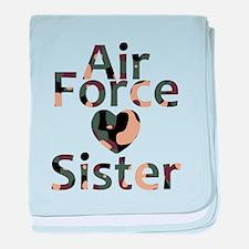 AF Sister Camo Heart baby blanket