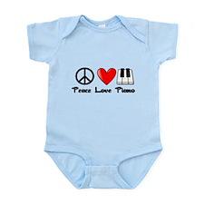 Peace, Love, Piano Body Suit