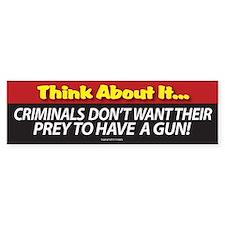 Pro Gun Ownership Bumper Sticker Bumper Bumper Sticker