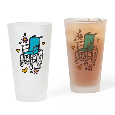 Wheelchair Drinking Glass