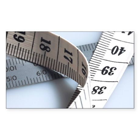 Tape measure - Sticker (Rectangle)