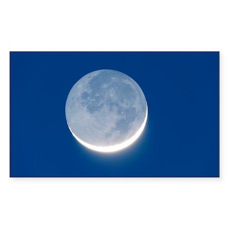 Waxing crescent Moon - Sticker (Rectangle)