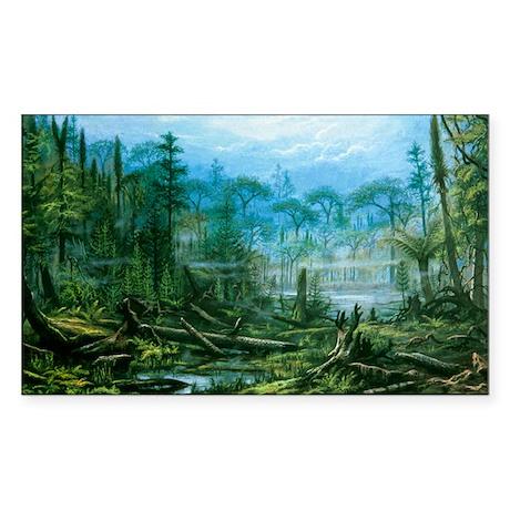 boniferous forest - Sticker (Rectangle)