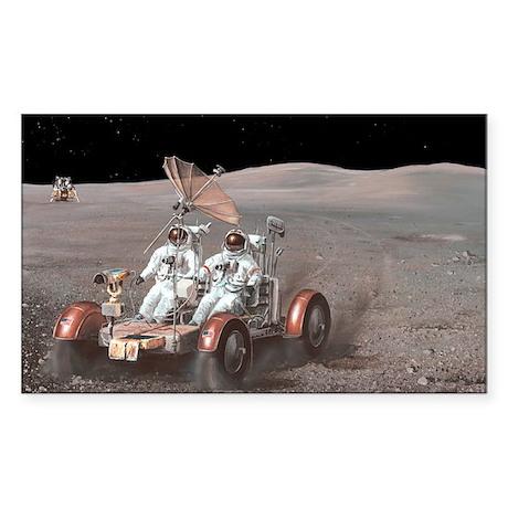 Apollo lunar rover, artwork - Sticker (Rectangle)