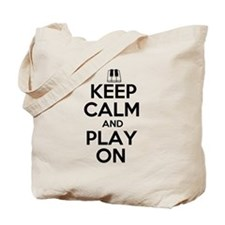 Keep Calm and Play On Piano Tote Bag