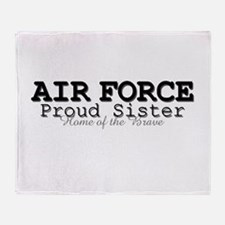 AF Proud Sister Home Throw Blanket