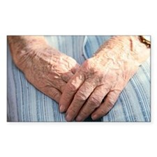 Elderly woman's hands - Decal