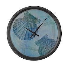 Shells Large Wall Clock