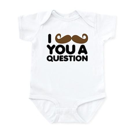 I Mustache You A Question Body Suit