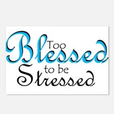Too Blessed to be Stressed Postcards (Package of 8