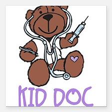 "Kid Doc Square Car Magnet 3"" x 3"""
