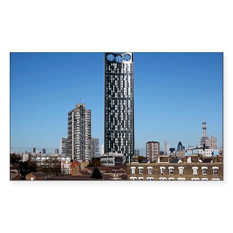 Strata skyscraper - Sticker (Rectangle)