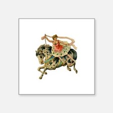 """Horse Acrobat Square Sticker 3"""" x 3"""""""