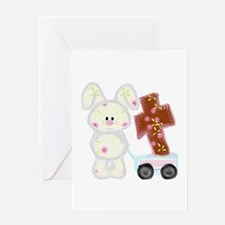 Bunny with a cross Greeting Card