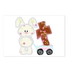 Bunny with a cross Postcards (Package of 8)