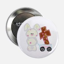 """Bunny with a cross 2.25"""" Button (100 pack)"""