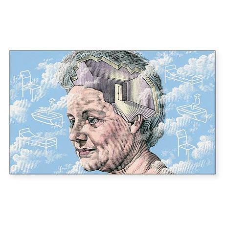 Alzheimer's disease - Sticker (Rectangle)