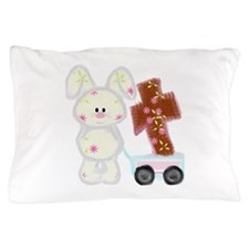 Bunny with a cross Pillow Case