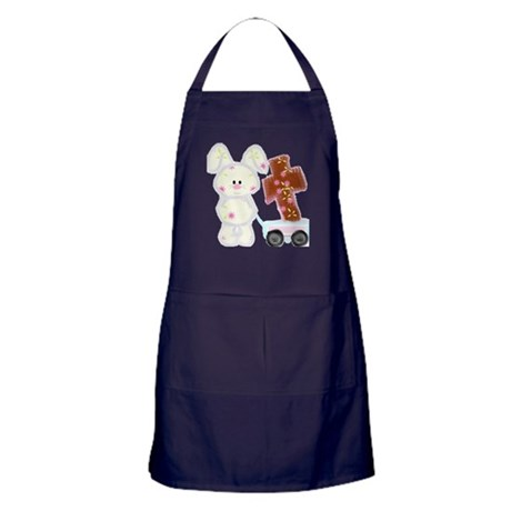 Bunny with a cross Apron (dark)