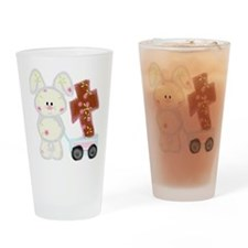Bunny with a cross Drinking Glass
