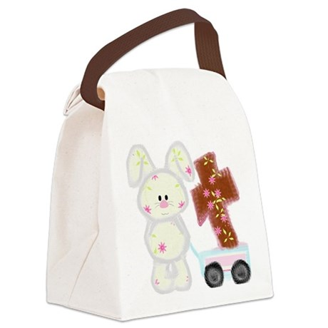 Bunny with a cross Canvas Lunch Bag