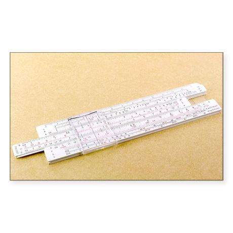 Logarithmic slide rule - Sticker (Rectangle)
