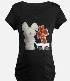 Bunny with a cross Maternity T-Shirt