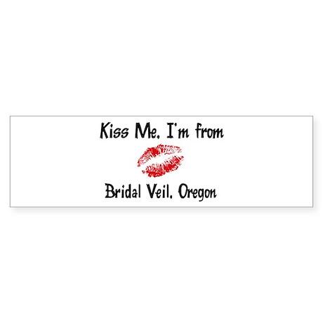 Bridal Veil - Kiss Me Bumper Sticker