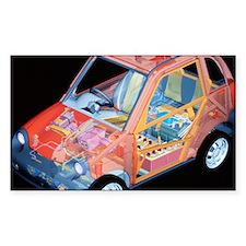 Electric car, artwork - Decal