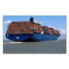 Container ship at sea - Decal