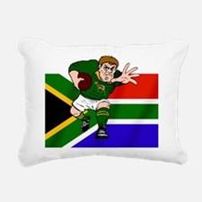 South Africa Rugby Forward Rectangular Canvas Pill