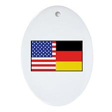 USA/Germany Oval Ornament