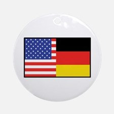USA/Germany Ornament (Round)