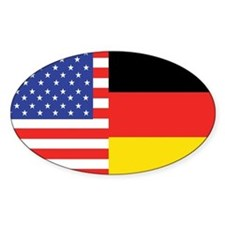 USA/Germany Oval Decal