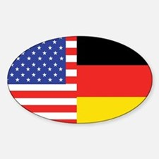 USA/Germany Oval Decal