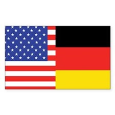 USA/Germany Rectangle Decal