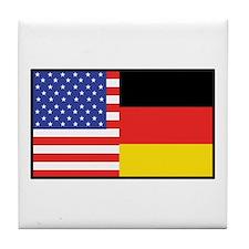 USA/Germany Tile Coaster